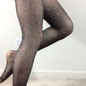 Hot Topic Accessories - Fishnet stockings black & silver glitter